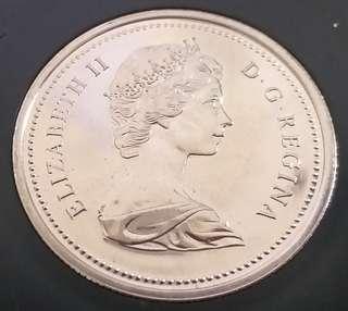 加拿大精装記念幣1873一1973。有盒