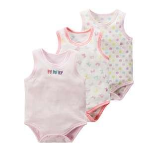 🚚 3pcs Set Singlet Romper for Baby Girl (NCR 023)
