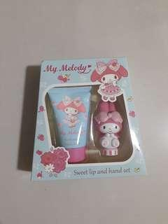 My Melody Sweet Lip Balm and Hand Cream Set