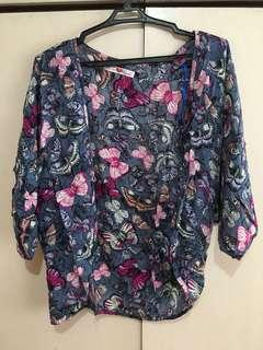 Butterfly Printed Cardigan