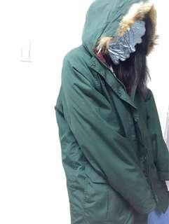 🚚 古著軍綠冬季厚外套