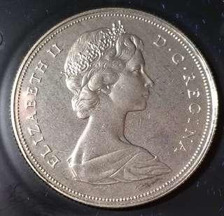 加拿大精裝纪念幣1971年有盒