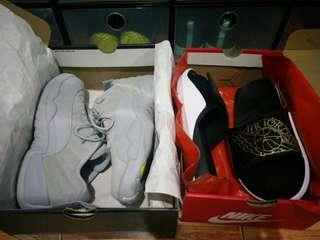 For Sale Air Jordan 12 and Hydro 7 slides