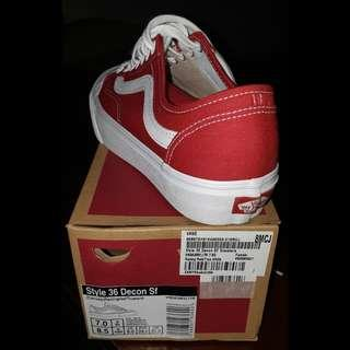 15876c9760 vans style 36 decon sf racing red size US7