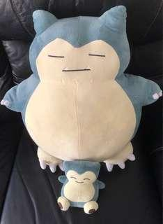 Snorlax Plush Toy (Buy 1 Big One get 1 small free)