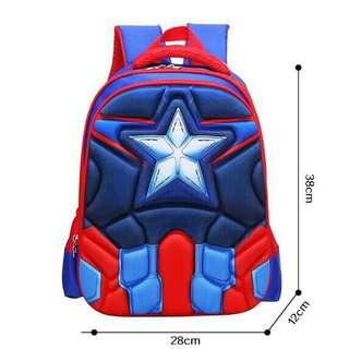 Captain America Backpack for school kids