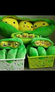 Cute pea in a pod
