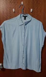 Blue collared Top F21