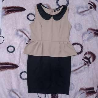 Brown black dress / coklat hitam