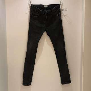 🚚 Pull&Bear SLIM FIT JEANS 黑色緊身牛仔褲