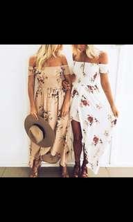 Brown maxi beach dress