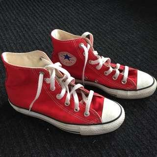 Converse Red Size 7 Women