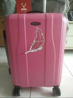 "Brand New Original Antler 20"" Pink Lightweight Luggage"