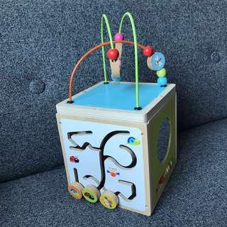 Baby Wooden Discovery Toy Box