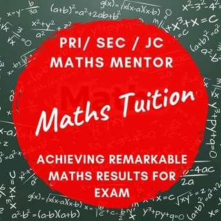 PSLE N O A level Maths Tutor | Primary Secondary JC  Private  Maths Home Tuition | Tuition Teacher | Diploma Degree Uni Tutor | JC1 JC2 H1 H2 IB IP IGCSE Maths |  Looking for Maths Tutor  |  IP eMaths AMaths Mathematics | AEIS