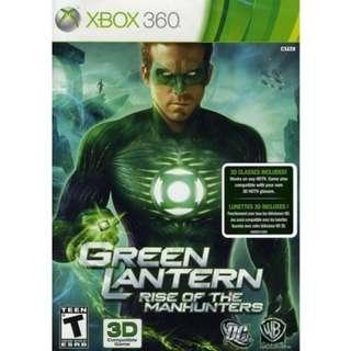 XBOX 360 Green Lantern Rise of the Manhunters with 3D glasses