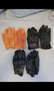 Used motorcycle gloves