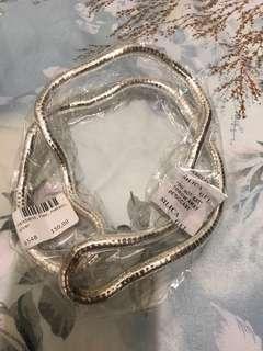 Designer love_Flex metallic silver necklace/wristlet/bracelet_from Stockholm Sweden