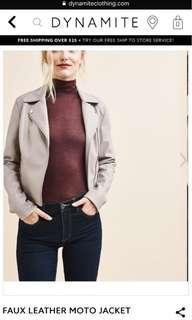 Dynamite: Faux Leather Jacket