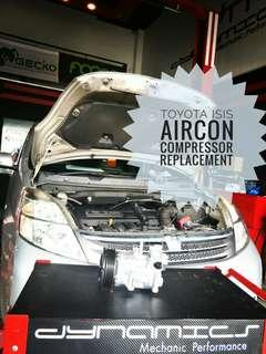 Toyota ISIS: Aircon compressor replacement