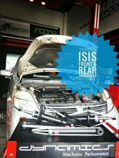 Toyota ISIS:- Front_Rear Absorbers replacement