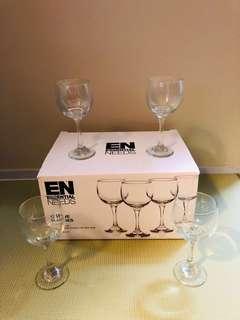 Set of 12 Stem Wine Glasses Brand New in Box