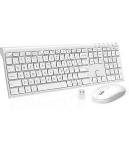 y Comb 4.0 out of 5 stars  567 Reviews Wireless Keyboard Mouse, Jelly Comb KUS015 2.4GHz Ultra Slim Full Size Rechargeable Wireless Keyboard and Mouse Combo for Windows, Laptop, Notebook, PC, Desktop, Computer (White)