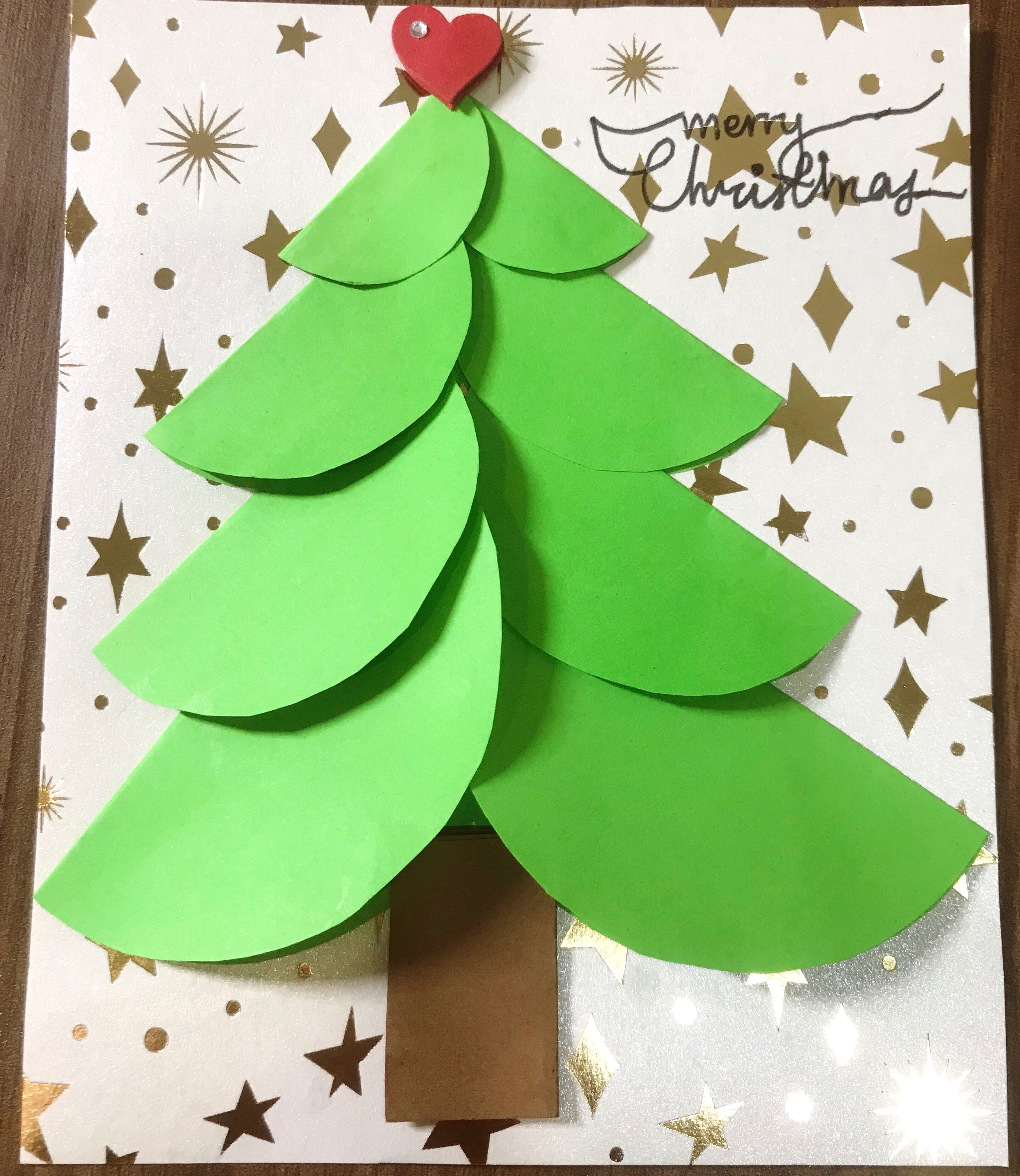 3d Handmade Christmas Cards Design Craft Handmade Craft On