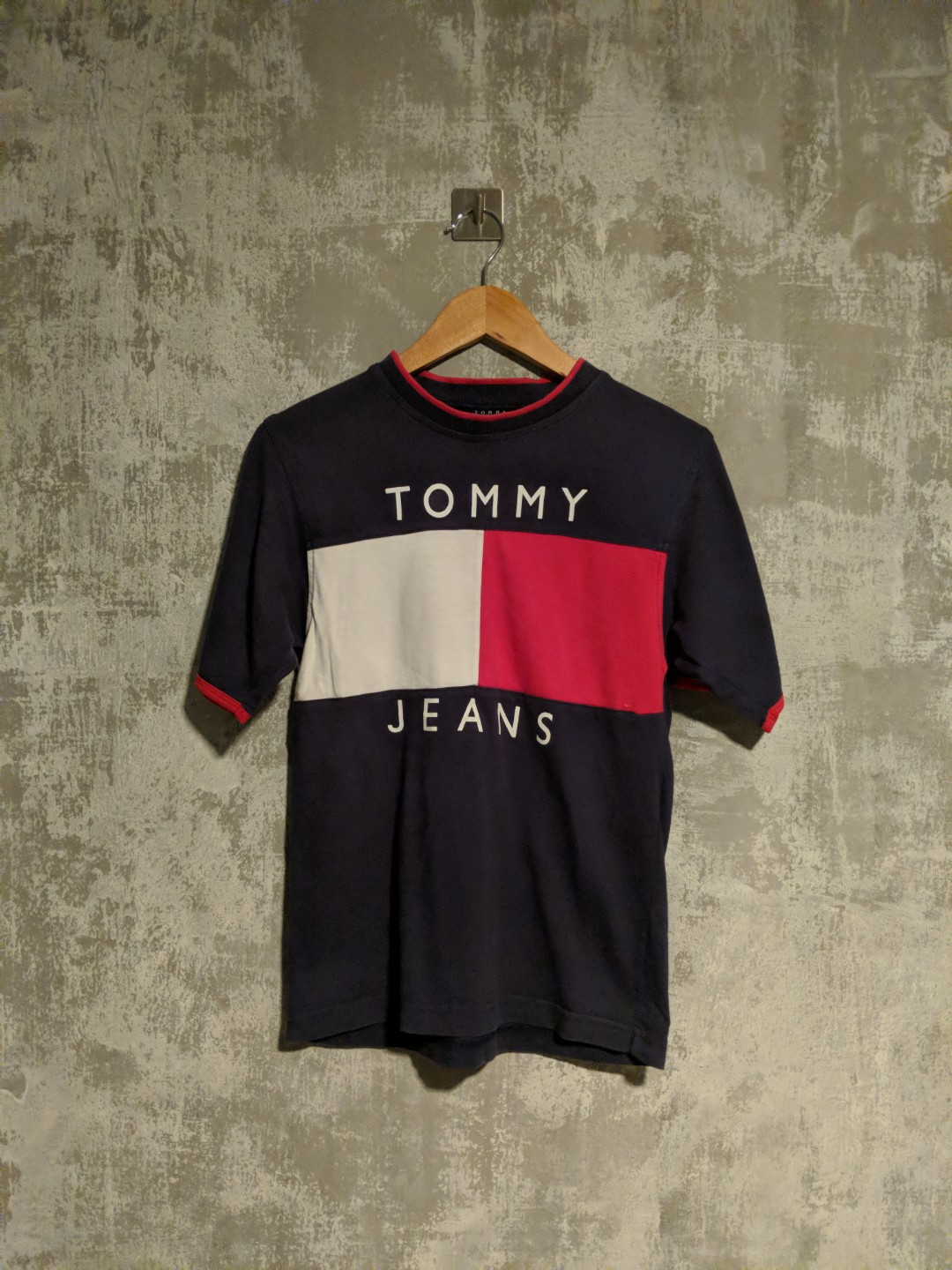 ae29197e Tommy Jeans Flag T Shirt Womens - raveitsafe