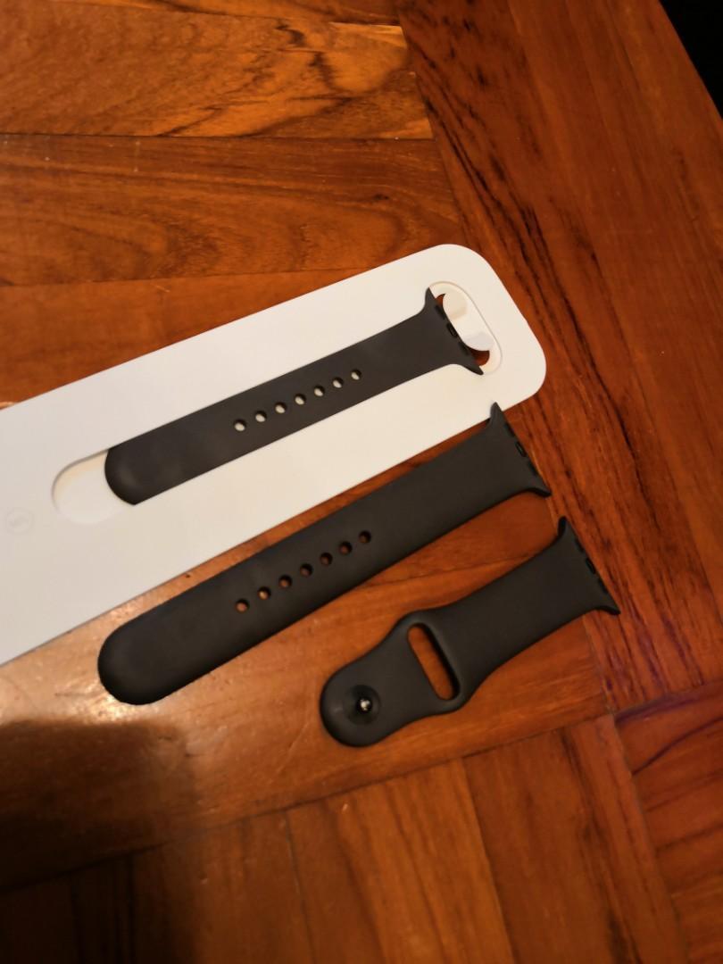 Apple Watch band for 42mm 深啡色帶正版全套三條