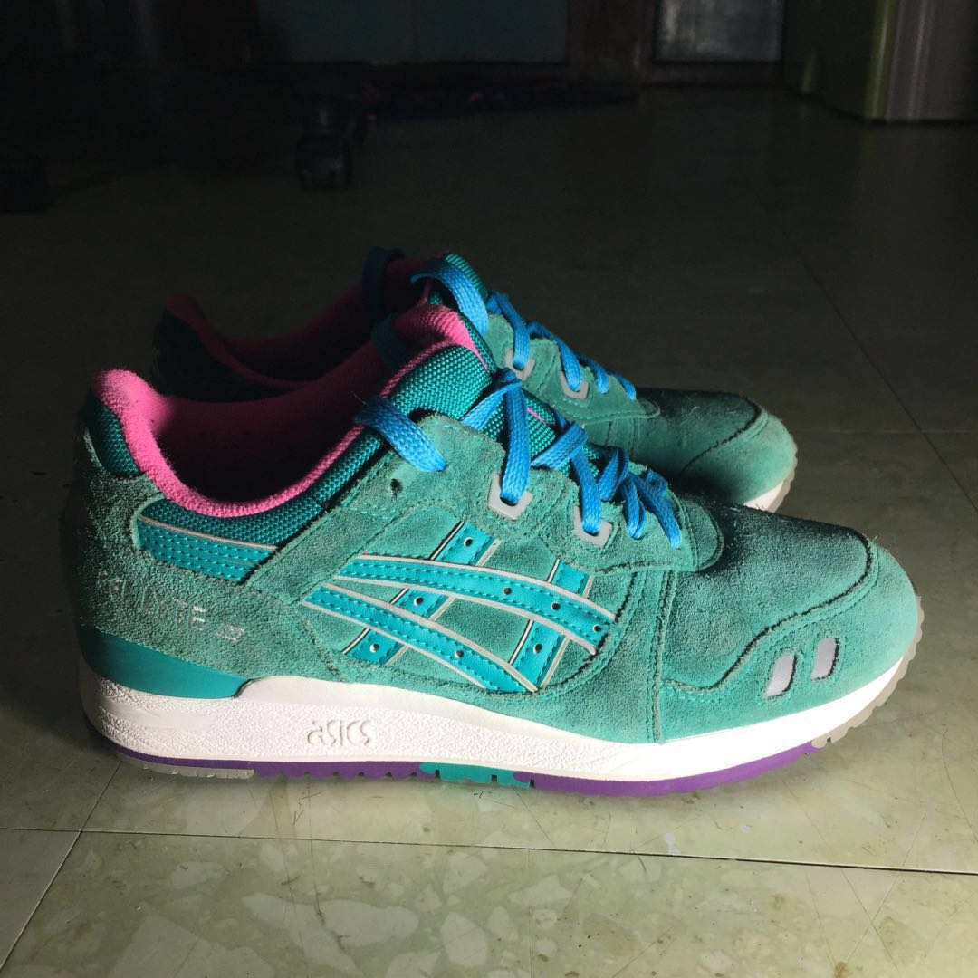"""separation shoes bd791 63488 Asics Gel Lyte III """"Waterproof Pack"""" Tropical Green on Carousell"""