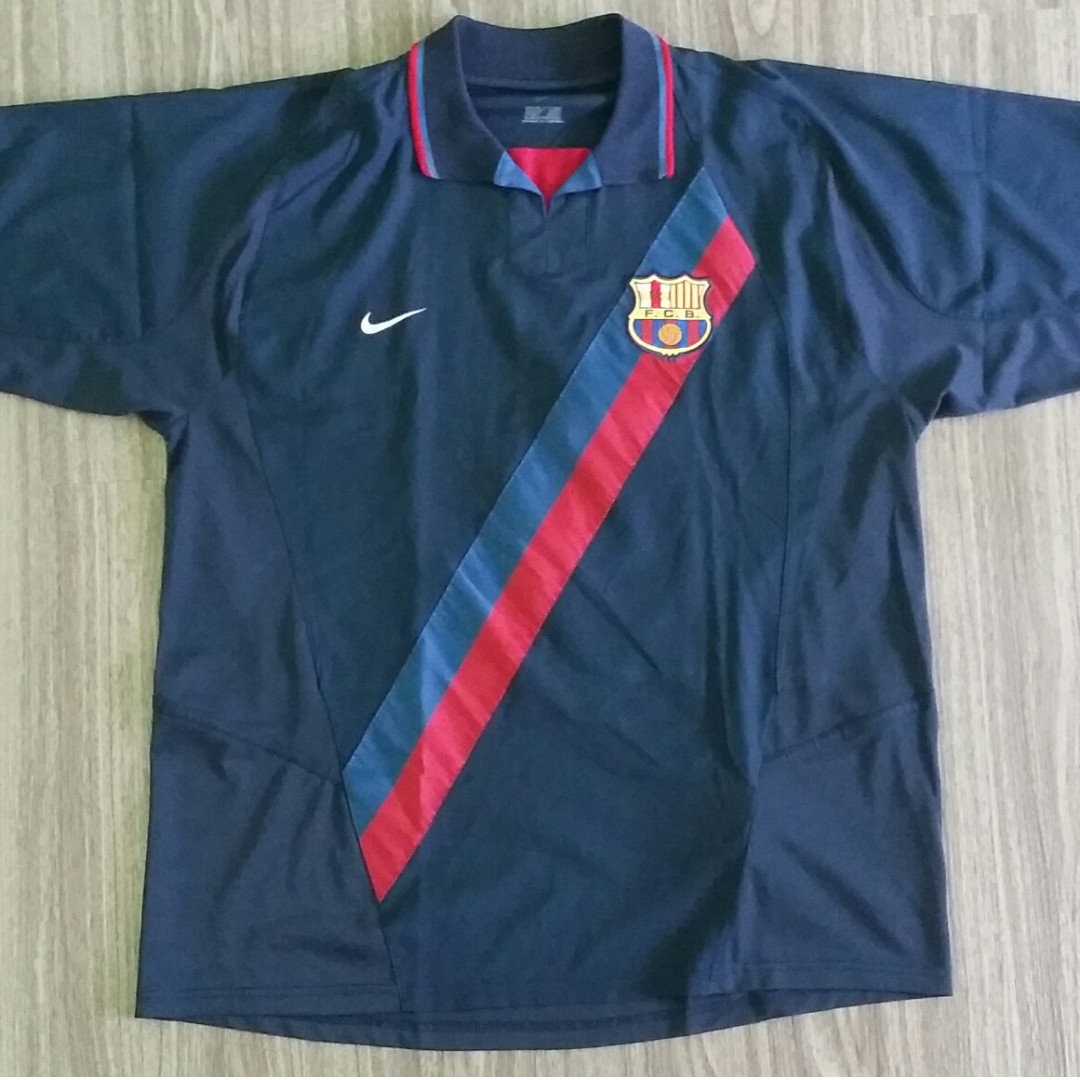 newest 944bd 57c7d Barcelona Nike 2002-04 Away Jersey XXL 2XL Vintage Retro ...