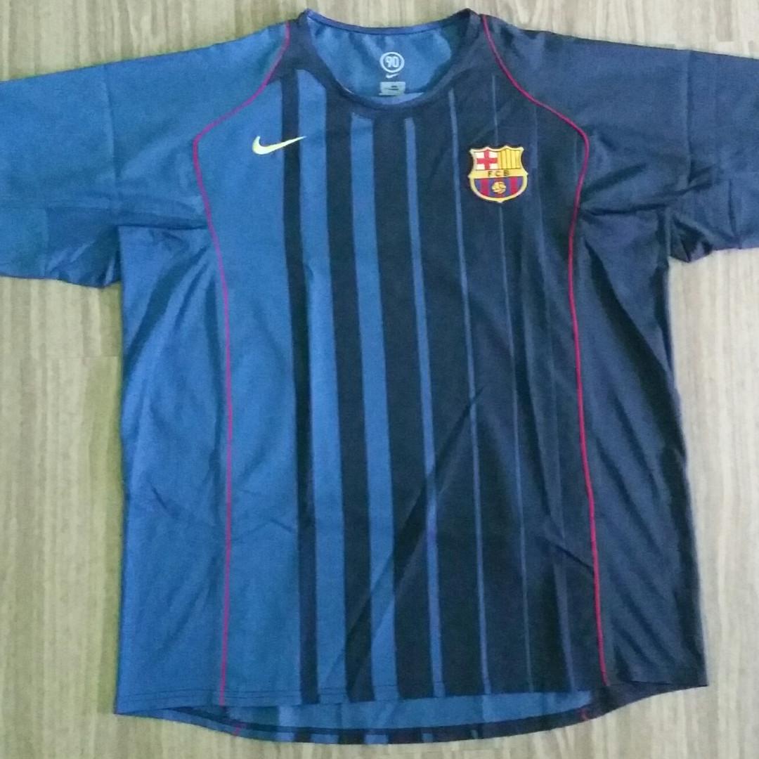 e0ff68f7dd3 Barcelona Nike 2004-05 Away Jersey XXL 2XL Vintage Retro, Sports ...