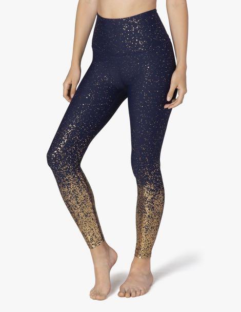 28195a9cb607e Beyond Yoga Alloy Ombré High Waisted Midi Legging - Navy, Sports ...