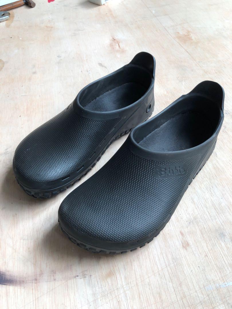rubber birkenstock mens black
