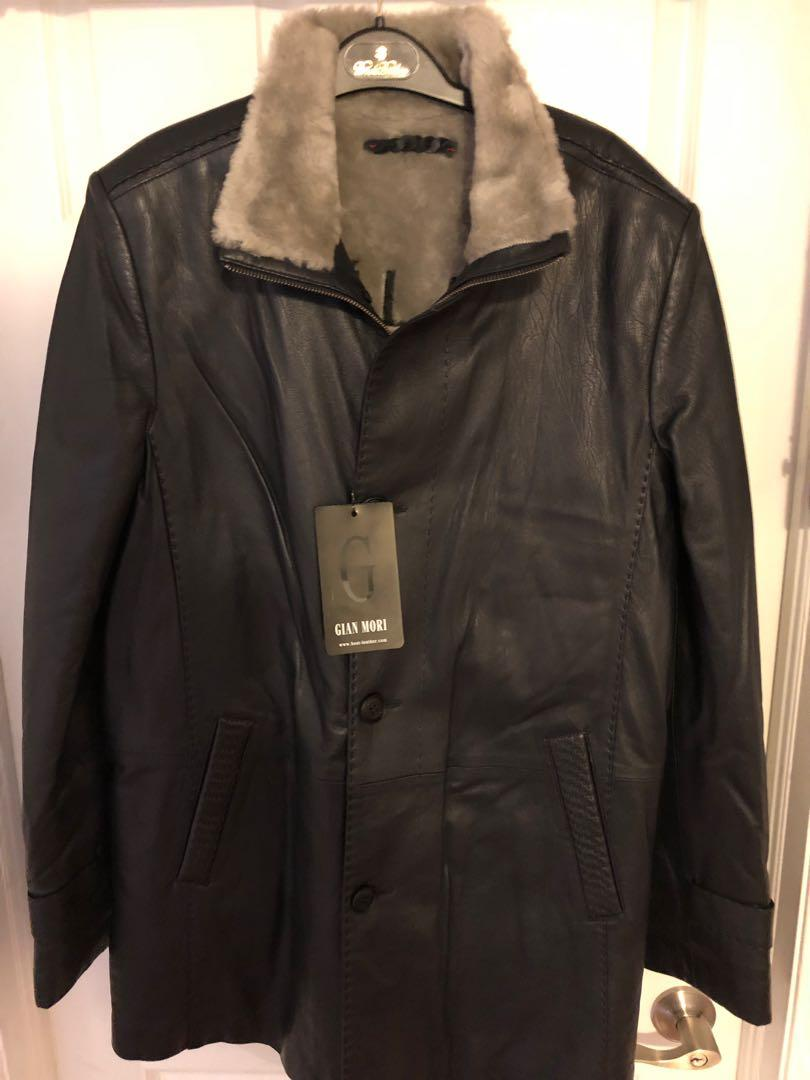 Brand new GIAN MORIE ,Leather jacket with lamb skin interior,