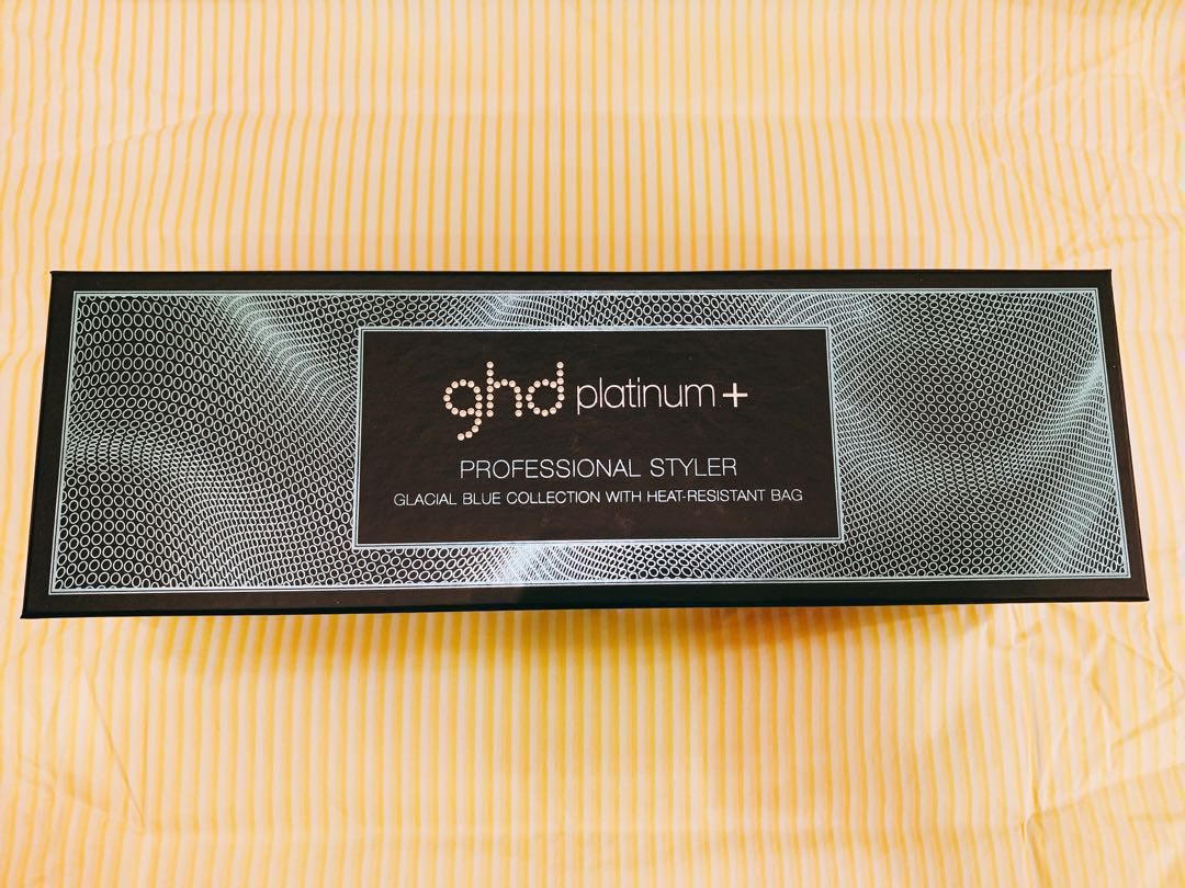 (Brand new with warranty) ghd Platinum+ Styler Glacial Blue Limited Edition  Set 386711f39b
