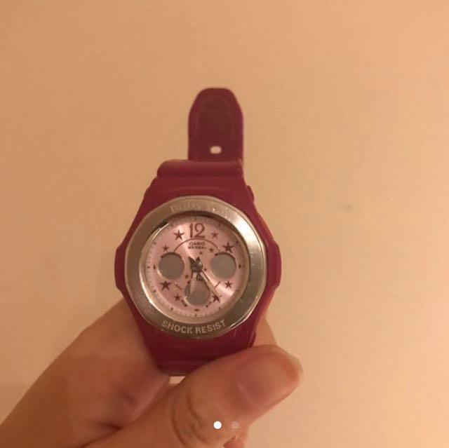 Casio baby G/ G-shock pink watch