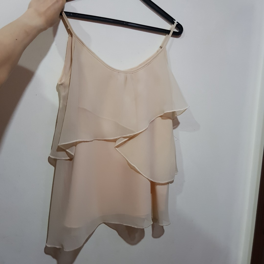 2f44ea5bab Catwalkclose Tiered Cami Top in Nude