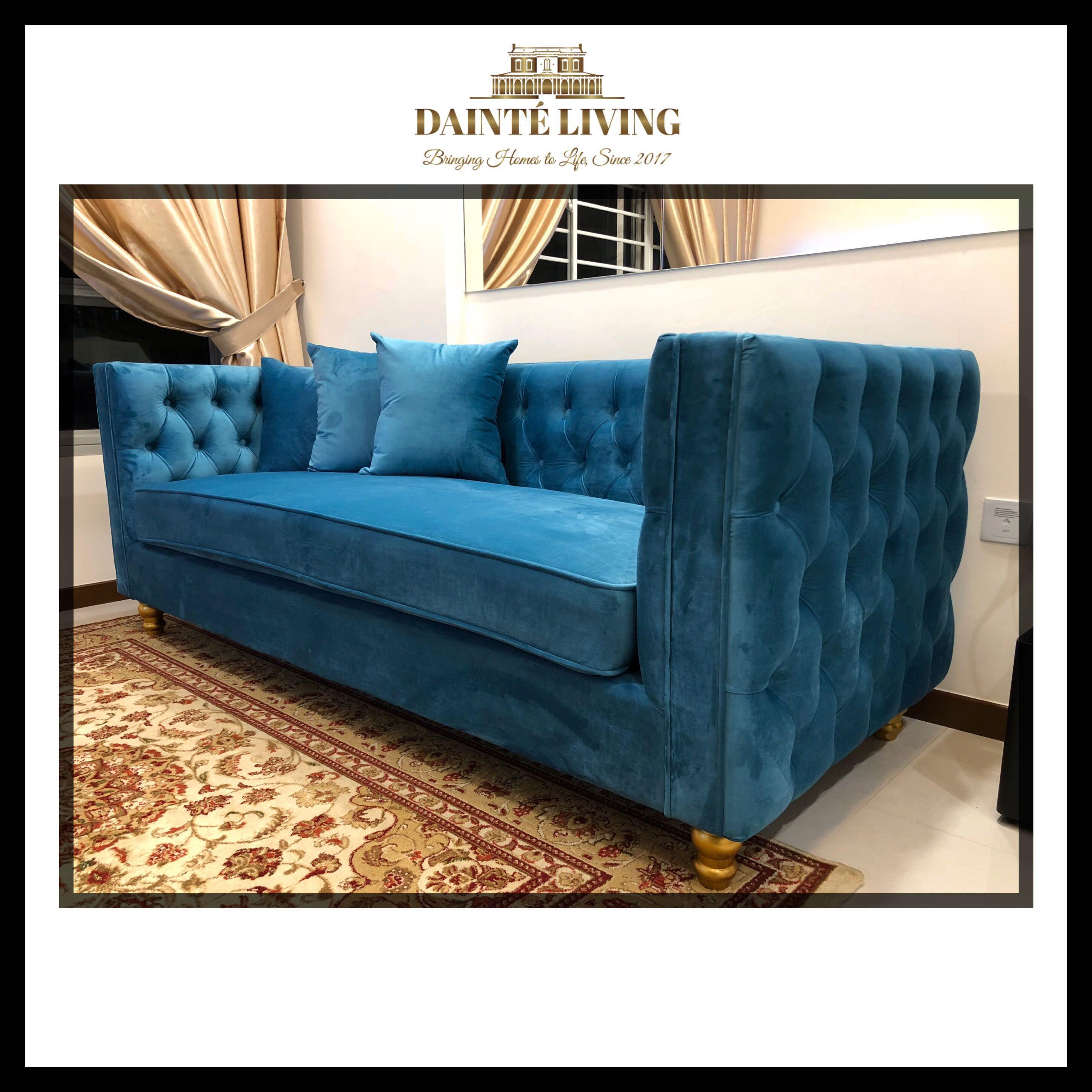Clients Archive Modern Classic Tufted Sofa Bespoke Furniture