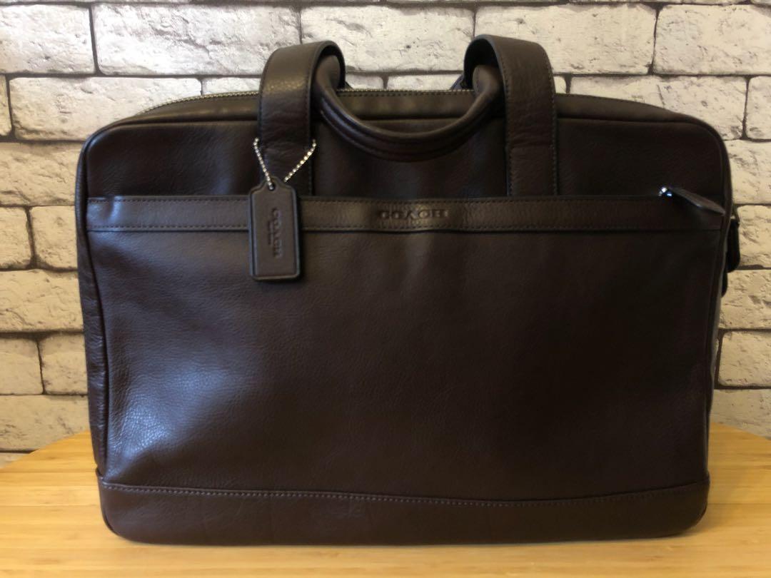 0bdf27bcb3bd COACH - Soft Leather Briefcase
