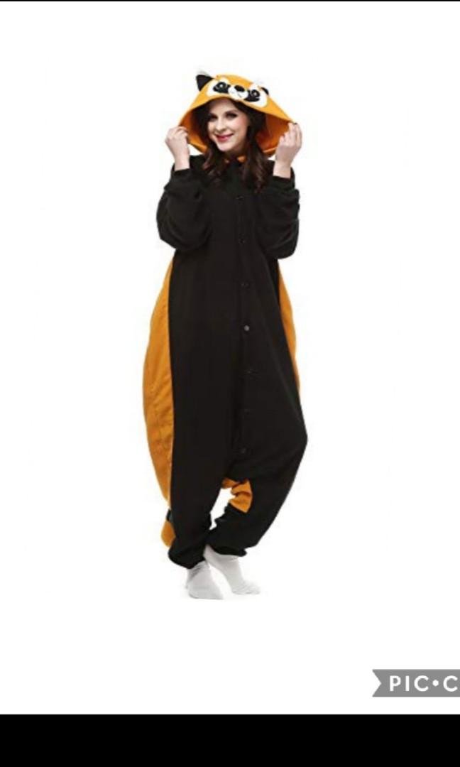 5d003914c79d Cosbus adult M size onesie raccoon halloween costume hufflepuff ...