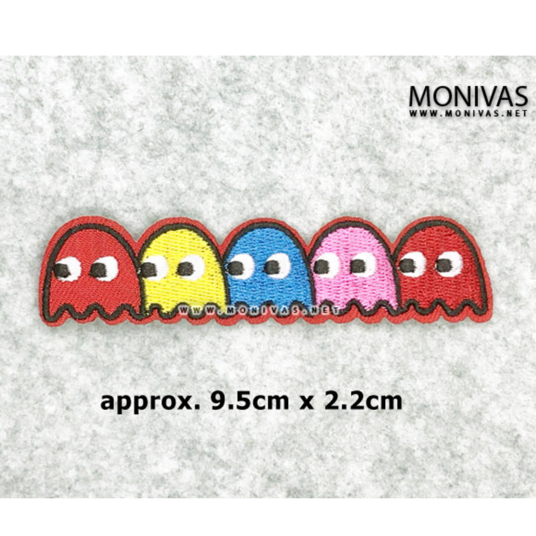 DIY Embroidery Iron On Patch Pop Art Fashion Applique Pacman Army Motif Decoration