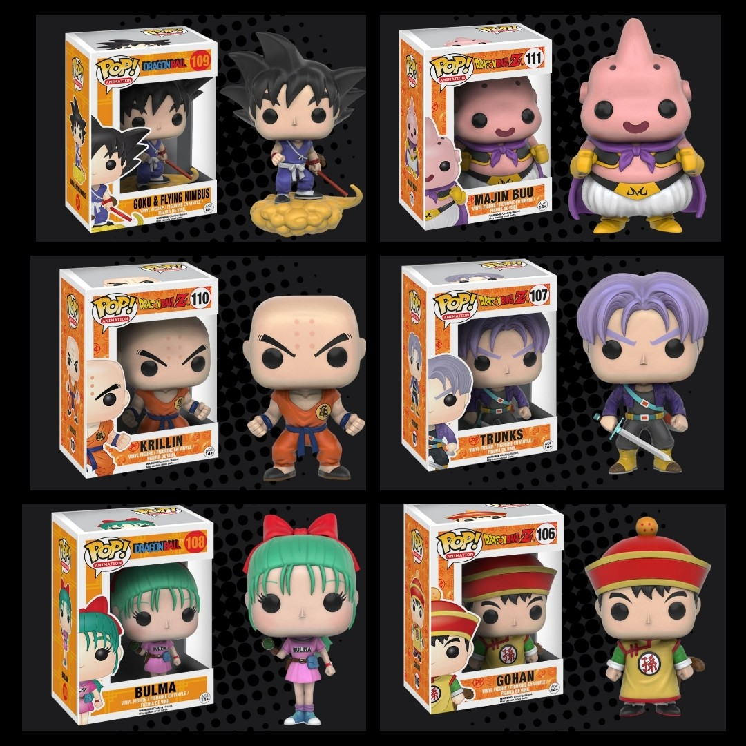 FUNKO POP - DRAGON BALL Z - Goku and Flying Nimbus - Bulma - Majin ... d4283d3510ed