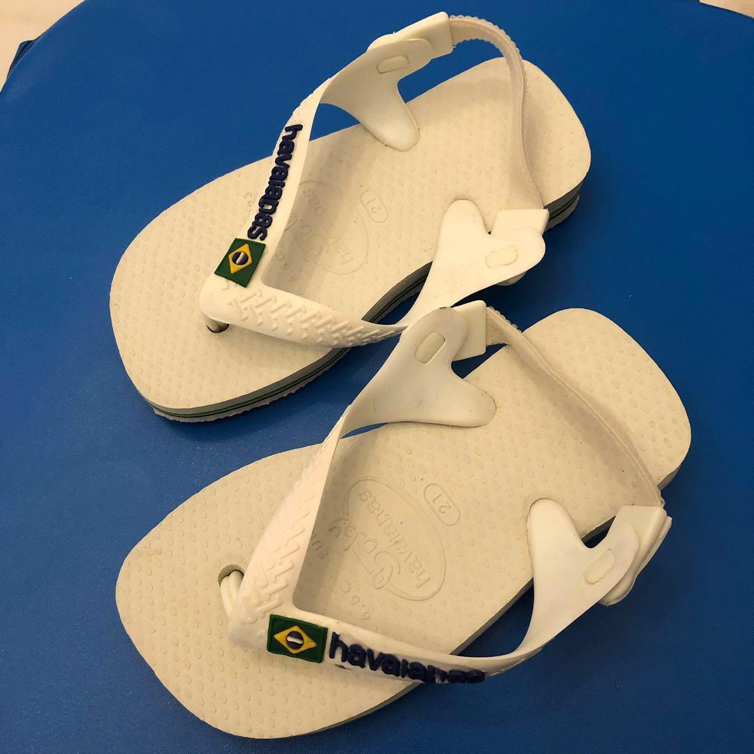 6f45fc67c Havaianas baby/kids white slippers, Babies & Kids, Babies Apparel on ...