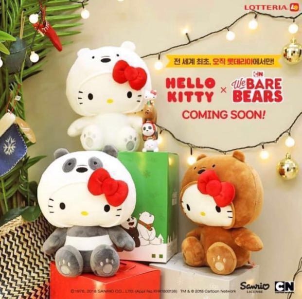 93ea12600 Hello Kitty x We Bare bears (whole set), Everything Else on Carousell