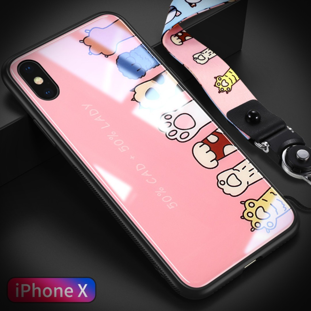 low priced f60e6 a0ac6 💥iPhone XS Max 9H Tempered Glass Case-Cat Claw 💥
