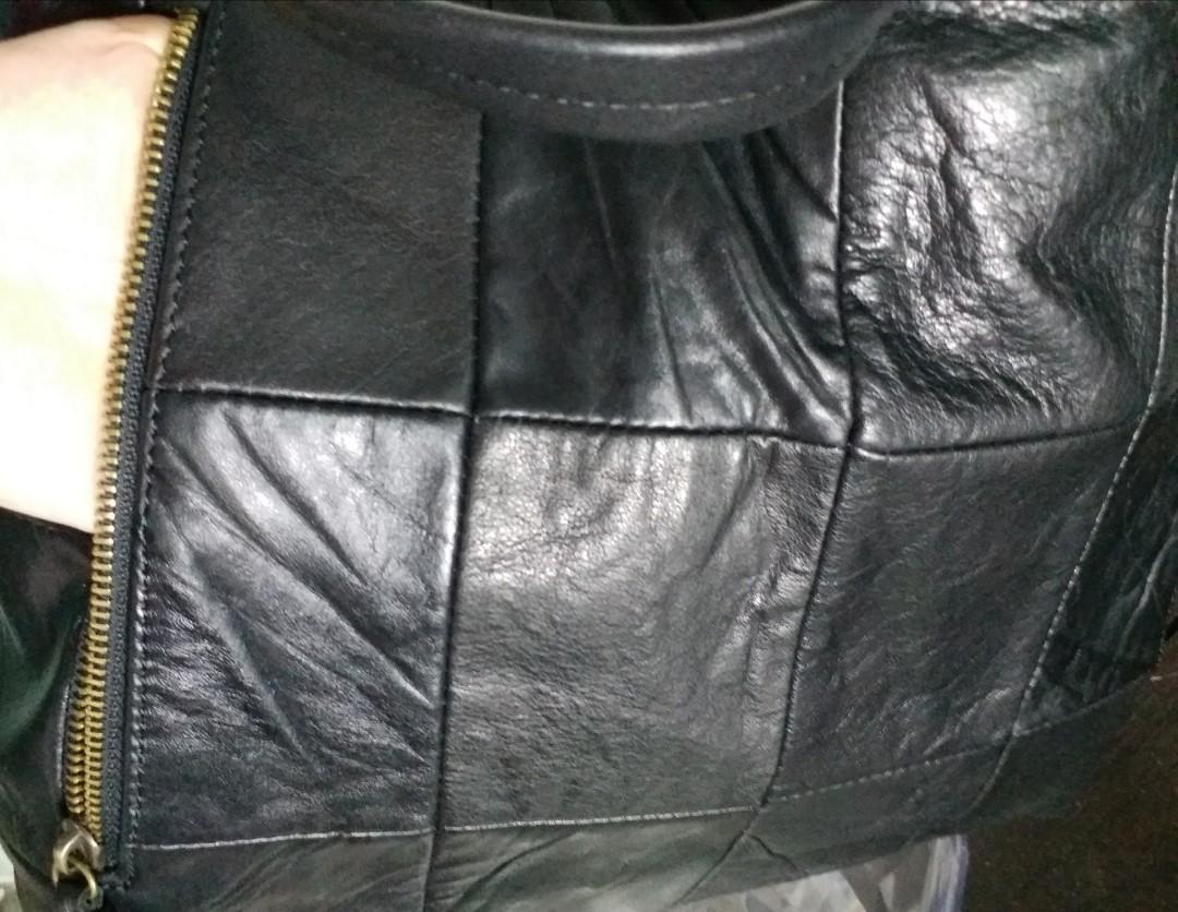 全新🎄🎁 Italian TERRANOVA 意大利真皮羊皮手袋可上膊 Christmas gift lamb leather (same as Chanel same leather pattern as YSL) shoulder tote bag 平過 givenchy 同款 二手 平過 furla 二手