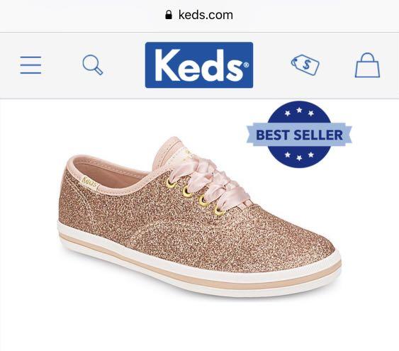 923f4b35049c kate spade new york Champion Glitter Sneaker in rose gold