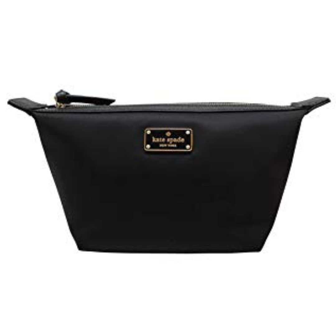 promo code d939b 79ebc Kate Spade Pouch New York Jodi Wilson Road Cosmetic Makeup Bag, Nylon Black  098687145220